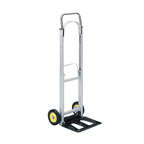 Safco Products Hide-Away Collapsible Utility Hand Truck, Silver/Black