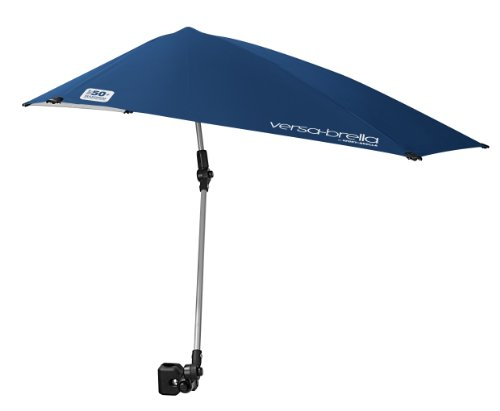 Sport-Brella Versa-Brella 4-Way Swiveling Sun Umbrella (Midnight Blue), 38x39