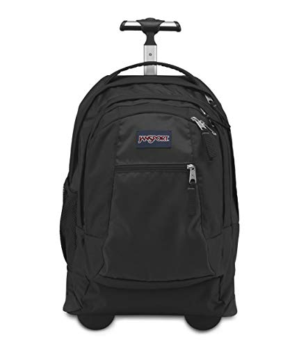 JanSport Driver 8 Rolling Backpack - Wheeled Travel Bag with 15-Inch Laptop Sleeve, Black, One Size