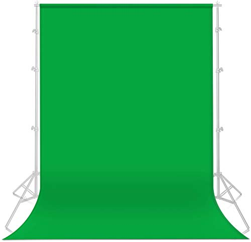Yesker 5.9X 9.5 ft Green Screen for Photography, Chromakey Muslin Backdrop Background for Photo Video Studio, Zoom, YouTube,Online Meetings (Stand NOT Included)