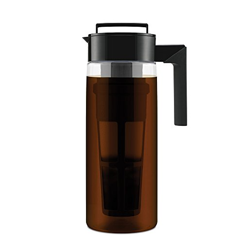 Takeya Patented Deluxe Cold Brew Coffee Maker, Two Quart, Black