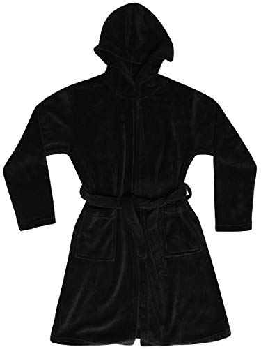 Just Love Velour Solid Robes for Girls 75604-BLK-14-16 Black