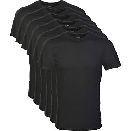 Gildan Men's Crew T-Shirt Multipack, Black (6 Pack), X-Large