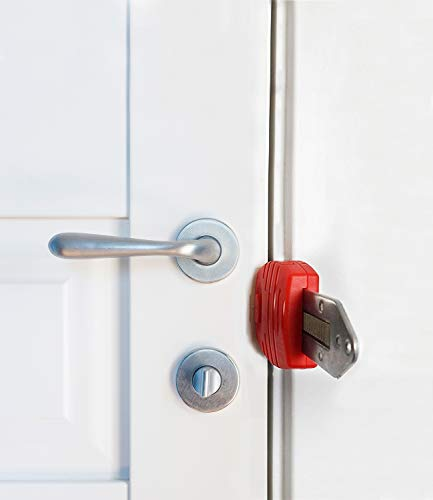 Portable Door Lock,Travel Lock, AirBNB Lock,Safety Lock for Travel,Hotel,Home,Apartment (1)