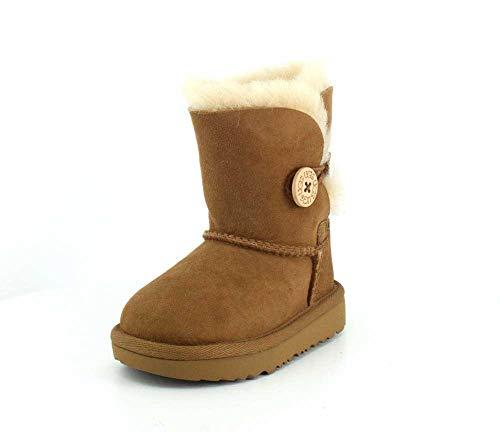 UGG Kids' Bailey Button II Boot, Chestnut, 8