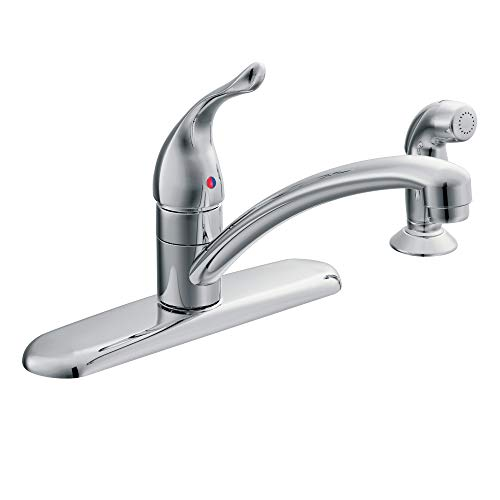 Moen 7430 Chateau One-Handle Low-Arc Kitchen Faucet with Side Sprayer, Chrome