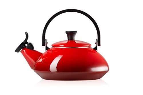 Le Creuset Enamel On Steel Zen Tea Kettle, 1.6 qt., Cerise