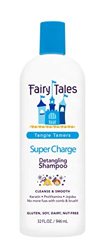 Fairy Tales Tangle Tamer Super Charge Detangling Shampoo for Kids - Paraben Free, Sulfate Free, Gluten Free, Nut Free - 32 oz