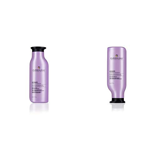 Pureology Hydrate Moisturizing Shampoo & Conditoner Bundle | For Dry, Color Treated Hair | Sulfate-Free | Vegan | Updated Packaging | 9 Fl. Oz.