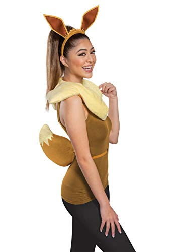 Disguise Women's Eevee Costume Kit, Brown, One Size Adult
