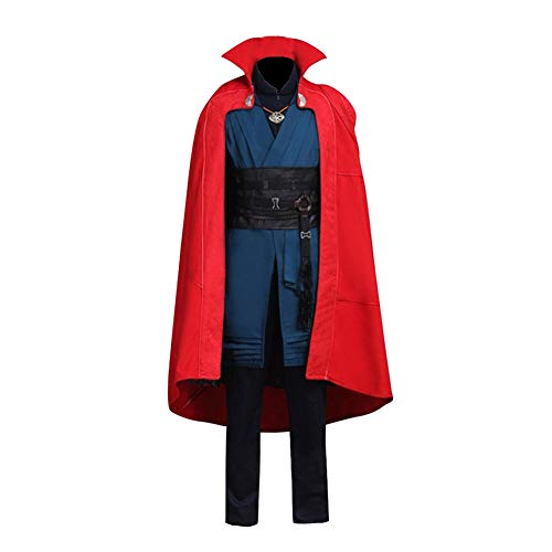 Strange Costume Suit Deluxe Dr Outfit Halloween Cosplay Full Set with Red Cape S