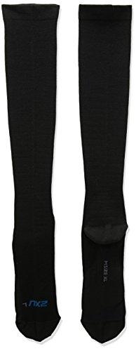 2XU Men's 24/7 Graduated Compression Socks, Black/Black, X-Large