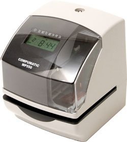 COMPUMATIC MP550 Electronic Time and Date Stamp, Durable Heavy Duty Construction
