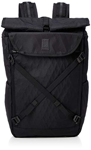 Chrome Industries Bravo 3.0 Backpack - Weatherproof Rolltop Commuter and Cycling Laptop Pack, Black, 35L