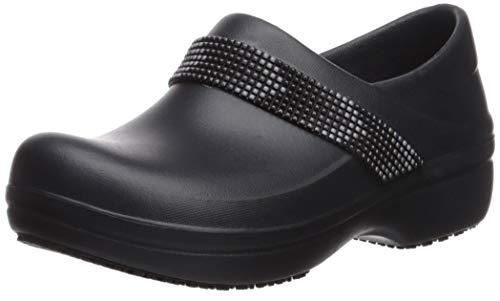 Crocs womens Women's Neria Pro Ii | Slip-resistant Work and Nursing Shoe Clog, Multi/Black, 6 US