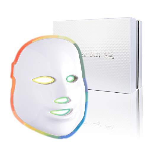 Led Face Mask - 7 Color Photon Blue Red Light Therapy Skin Rejuvenation Facial Skin Care Mask Therapy For Healthy Skin Rejuvenation | Home Light Therapy Facial Care Mask