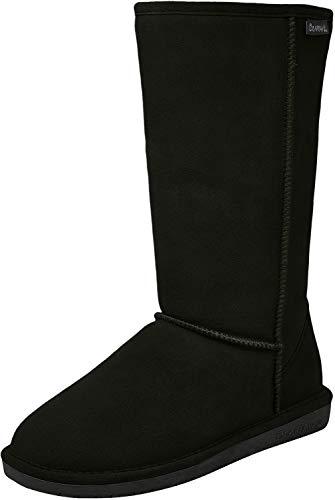 BEARPAW Women's Emma Tall Fashion Boot, Black, 7.5
