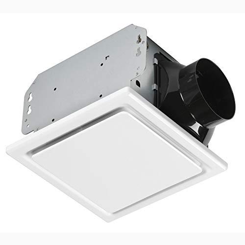 Homewerks Worldwide 7140-110 Bathroom Fan Ceiling Mount Exhaust Ventilation 2.5 Sones 110 CFM, White