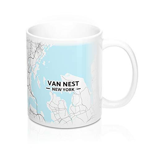 Van Nest, New York Map Mug (11 oz)
