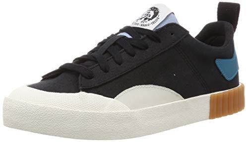 Diesel mens Fashion Sneaker, Black/Vaporous Gray, 10 US