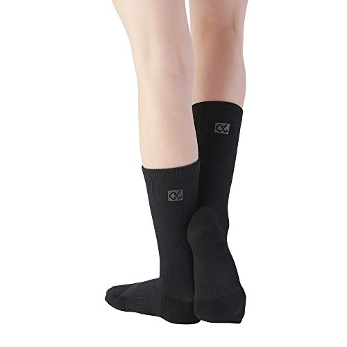 Apolla Shocks - The Infinite - MD - Black: Compression Socks with Targeted & Patented Support