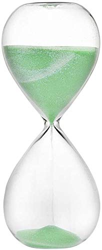 Hourglass Sand Timers - Biloba Hourglass Sand Timer, 8.1 Inch Rose Red Sand Timer (30 Mins, Green)