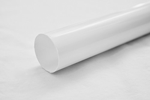 Jenacor Closet Rod Cover Rod Cover Rod Covers Plastic Tubing Rod Protective Cover Rod Cover Sleeve | White Plastic Closet Rod Cover 1-1/4 inch Diameter x 59 inches Long 2-Pack/Made in USA