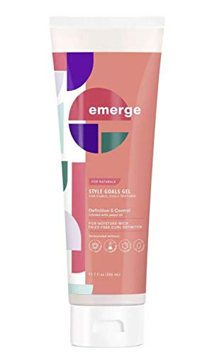 Emerge Style Goals Definition & Control Curl Hair Gel 11.7 Fl. Oz! Infused With Pequi Oil And Almond Milk! Styling Gel For Curly And Coil Texture! Hair Gel Provides A Medium Hold And Definition!