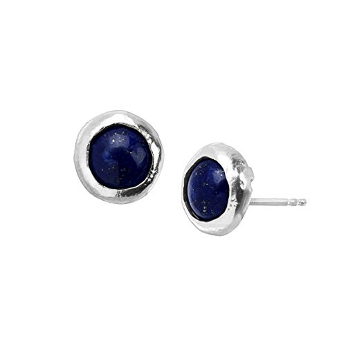 Silpada 'September Celebration Collection' Natural Lapis Stud Earrings in Sterling Silver