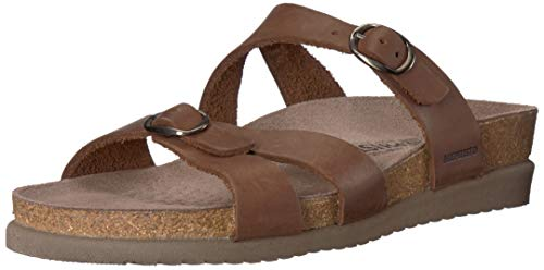 Mephisto Women's Hannel Sandals Dark Brown Leather 10 M US