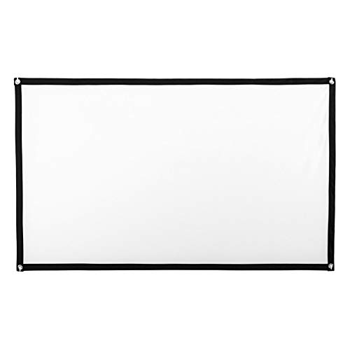 Bouanq Portable HD Projector Screen, Collapsible Projection Screen to Stick Or Hung to The Wall- 16:9 Home Cinema Theater Projection Screen (White, 72inch)