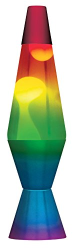 Schylling 2179 14.5-Inch Tri-Colored Base Lava Lamp with White Wax in Clear Liquid
