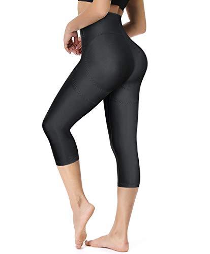 Gotoly Women Hi-Waist Butt Lifter Thigh Slimmer Panties Waist Trainer Shapewear Tummy Control Body Shaper Shorts (Black, XX-Large)