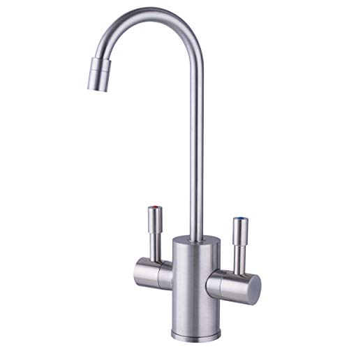 Ready Hot RH-F560-BN Dual Lever Hot and Cold Water Dispenser Faucet, Brushed Nickel Finish