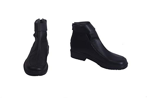 Narusaka Kirigaya Kazuto Kirito New Version Game Cosplay Shoes Boots S008 (Female US 5/EU35.5) Black