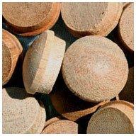 WIDGETCO 3/4' Mahogany Button Top Wood Plugs