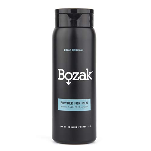 Bozak Cooling Body and Foot Powder for Men – Talc Free, Antifungal, Jock Itch Defense, Deodorant, Stops Chafing, Absorbs Sweat, and Keeps Skin Dry – with Menthol (4 oz.)