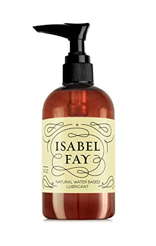 8oz, NO Parabens NO Glycerin, Natural Personal Lubricant for Sensitive Skin, Isabel Fay - Water Based - Best Personal Lube for Women and Men