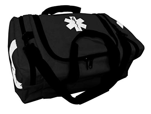 ASATechmed First Aid Large EMT First Responder Trauma Bag for Home, Office, School, Emts, Paramedics, First Responders + More (Black)