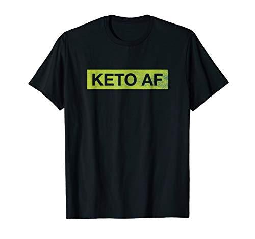 Keto AF Shirt: Ketogenic T-Shirt | Low Carb | Diet Shirt