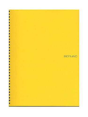 Fabriano EcoQua Notebooks Spiral Blank Lemon 8.25 x 11.7 in.