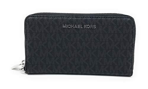 Michael Kors Jet Set Travel Large Flat Multifunction Phone Case Wristlet (Black 2018)