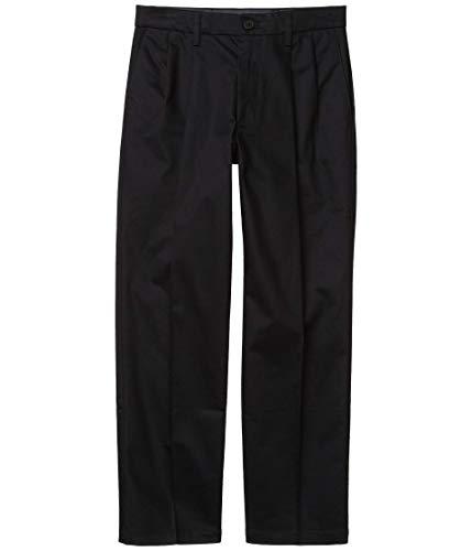 Dockers Straight Fit Signature Khaki Lux Cotton Stretch Pants - Pleated Black 38