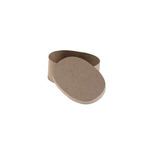 Darice Paper Mache Box Oval 5 x 3-1/2 x 2 inch (6-Pack) 2833-34