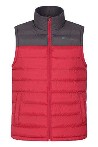 Mountain Warehouse Seasons Mens Padded Puffer Vest -Sleeveless Jacket Red 3X-Large