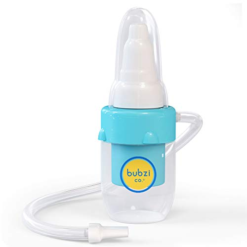 Bubzi Co Baby Nasal Aspirator for Sinus Congestion Relief, Reusable Booger Snot Sucker for Smart Moms, Bonus Storage Case, Premium Mucus Extractor for Cold and Flu, Gentle Nose Cleaner Suction Infants