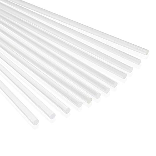 Acrylic Dowel Rods for DIY Crafts, Clear Plastic (0.25 x 12 in, 12 Pieces)