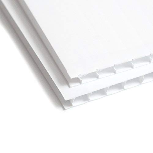 White Corrugated Plastic Sheets 18 x 24 inch 2 Pack - Blank Yard Signs - Coroplast Sheets - Plastic Panels for A-Frame Sidewalk Signs- Coroplast for Guinea Pig Cage (2 Pack)