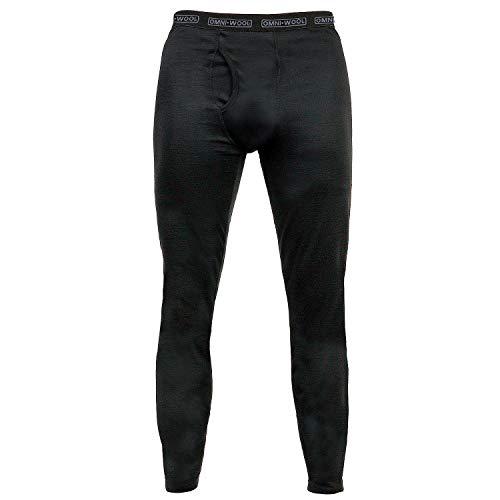 Omni-Wool Thermal Base Layer Men's Bottoms Black-Medium Thermal Underwear 20% Merino Wool