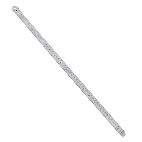 Pacific Arc 18 inch Pica Pole Metal Ruler, with Pica, Points, Inches, and Agate Measurements, Stainless Steel Ruler for Drafting